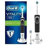 Oral-B D150 Şarj Edilebilir Diş Fırcası + 1 Yedek Başlık, Siyah