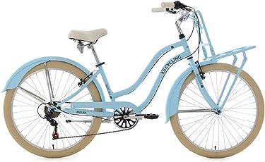 """KS Cycling Damen Beachcruiser Cargo Cruiser 26"""" Melba blau Fahrrad"""