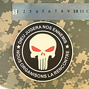 Punisher DIEU JUGERA NOS ENNEMIS Glow Dark Marine Navy Seals DEVGRU PVC 3D Attache-boucle Écusson Patch