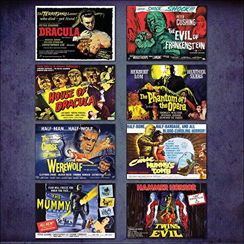 hammer-horror-film-poster-fridge-magnets-set-of-8-large-fridge-magnets-no2