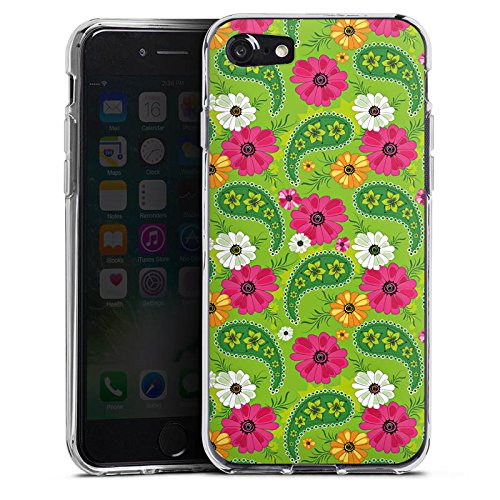 Apple iPhone X Silikon Hülle Case Schutzhülle Blumen Muster Bunt Silikon Case transparent