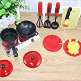 Pretend Play Cooking Plastic Kitchenware set - Educational Toys