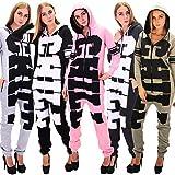 DSguided Damen Chill Print Overall gemütlicher Einteiler Onesie Jumpsuit in verschiedenen Farben