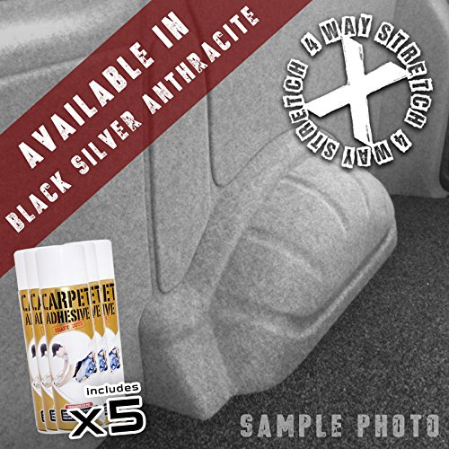 Anthracite Grey 4 Way Stretch Camper Van Lining Conversion Carpet Trim 5m Bundle