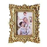 Giftgarden Bilderrahmen 10x15cm Barock golden viereckig golden Geschenke Freunde