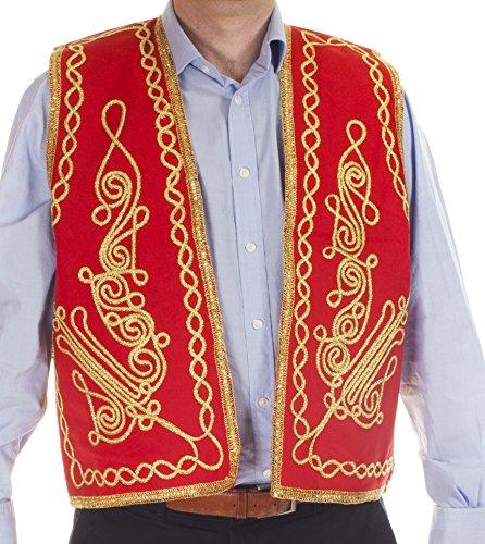 The Turkish Emporium Herren Strickjacke Rot Rot -