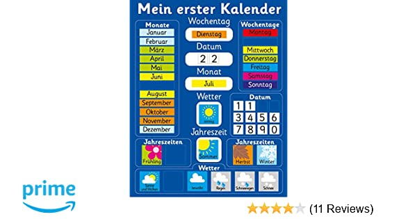 Fridge Magic Mein erster Kalender. 40 x 30cm Magnetisch: Amazon.de ...