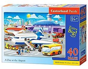 Castorland A Day at The Airport 40 Maxi pcs Puzzle - Rompecabezas (Puzzle Rompecabezas, Dibujos, Niños, Niño/niña, 4 año(s), Interior)