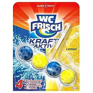 WC Frisch Kraft-Aktiv Duftspüler Lemon, 5er Pack (5 x 1 Stück)