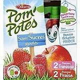 Pom'potes Compotes Pomme-fraise Et Pomme-framboise, Sans Sucres Ajoutés - ( Prix Par Unité ) - Envoi Rapide Et...