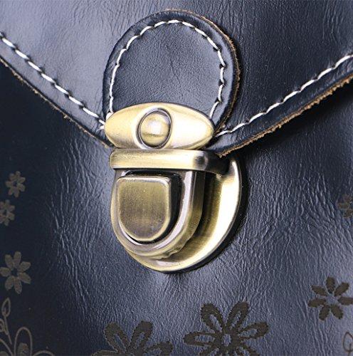 Dairyshop Sacchetto di spalla del mini sacchetto trasversale della borsa del telefono delle cellule della moneta della borsa del raccoglitore delle donne (vino rosso) nero