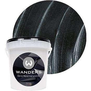 wanders24 metall optik 1 liter schwarz wandfarbe zum. Black Bedroom Furniture Sets. Home Design Ideas