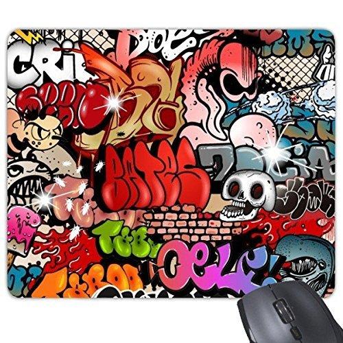 Graffiti street culture teschio dipinto a mano da parete american art illustrazione colorata modello rettangolo gomma antiscivolo mouse game mouse pad