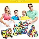 Pueri Magnetische Bausteine, Konstruktion Blöcke Magnetspielzeug Lernspielzeug Kinder Kreative Pädagogische Spielzeuge Magnetische Bausteine Set für 2D und 3D Form Konstruktionen (A, 119 Stück)