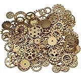 EVINIS 200 Gramm sortierte Vintage Bronze Metall Steampunk Schmuck machen Charms Cog Watch Wheel (KC Gold)