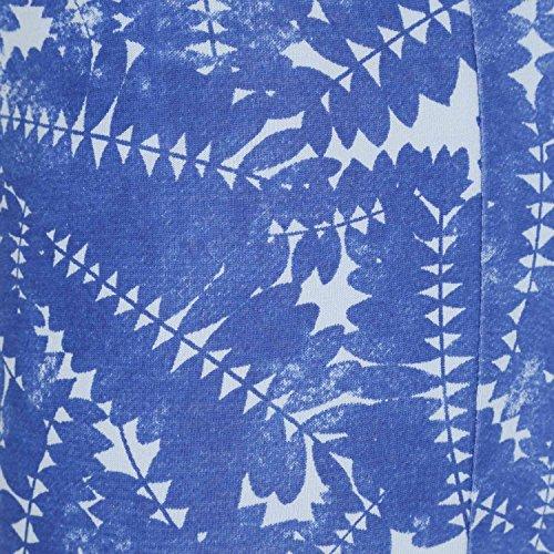 L. PRINTED leggings-diadora _ white-xs Blu Oltremare