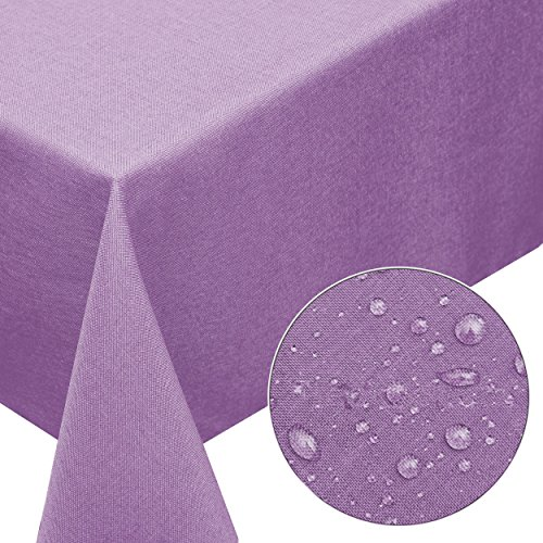 inen-Optik 90x90cm eckig mit FLECK-Schutz lila *pflegeleicht* Farbe wählbar ()
