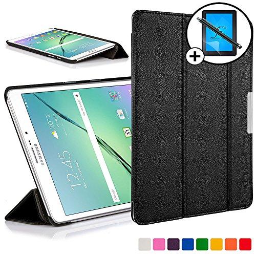 Forefront Cases Samsung Galaxy Tab S2 8.0 Funda Carcasa Stand Smart Case Cover – Ultra Delgado Ligera y Protección Completa del Dispositivo con Función Auto Sueño / Estela + Lápiz óptico y Protector de Pantalla (NEGRO)