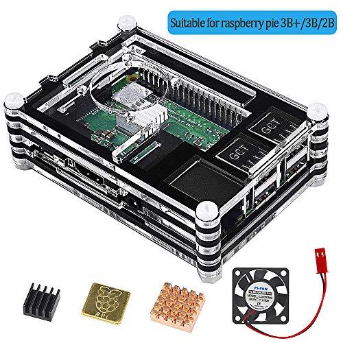 VSTON Raspberry Pi 3 B + Box Fan 3 Dissipating heat cooling parts, 3B Pi case for more 3 Model B 2b