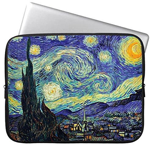 HESTECH Laptoptasche für Damen, 43,9 cm (17,3 Zoll) Neopren, kompatibel mit 16-17,3 HP Lenovo Dell ASUS Acer, Starry Night