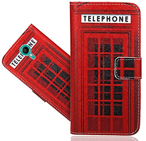 Wiko tommy custodia cover case, foneexpert® flip case design custodia pelle accessori protective portafoglio wallet a libro cover per wiko tommy