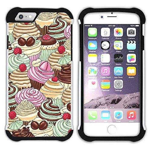 Graphic4You Cupcake Dessert Nachtisch Kuchen Hart + Weiche Kratzfeste Hülle Case Schale Tasche Schutzhülle für Apple iPhone 6 Plus / 6S Plus Design #10