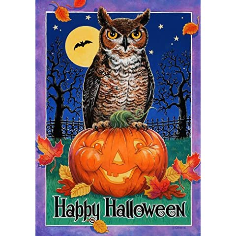 Who 's there – Happy Halloween – Tamaño Grande 28 pulgadas X 40 pulgadas decorativo