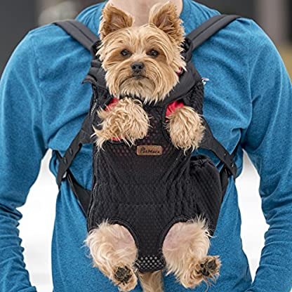 Petmars Pet Backpack Carrier: Dog And Cat Carrying Bag, Front And Back Facing, For Small Medium And Large Sized Breeds… 5