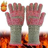 XJZxX BBQ Extreme Hitzebeständige Handschuhe Startseite/Küche/Outdoor Handschutz Five Fingers Grill Mikrowellenherdhandschuhe