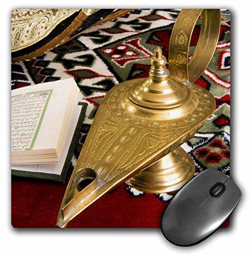 3drose LLC 20,3x 20,3x 0,6cm Lampe von Aladdin, Arabisch Schuhe, Heiligen islamischen Koran Mauspad (MP 131462_ 1)