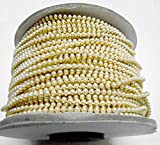 #9: Pearl chain for jewellery making,perfect for jhumkis and bangles! 3mm pearl size