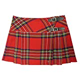 Photo de Viper London Mini Jupe à Carreaux Kilt écossais Punk Rouge 34-56 par Viper London
