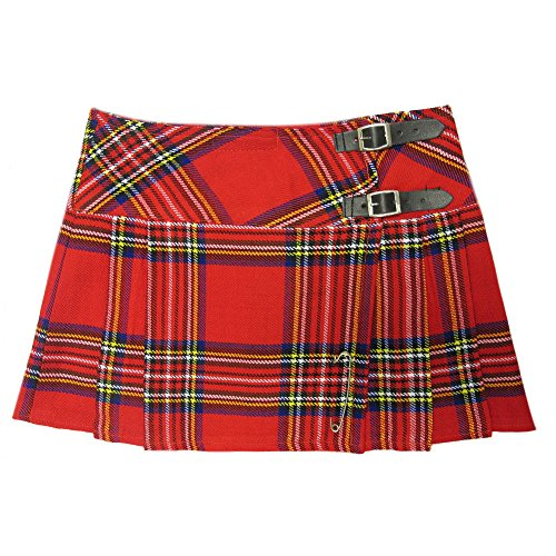 Viper London Red Tartan Punk 13 inch Micro Skirt with Buckles. Sizes 6 to 28