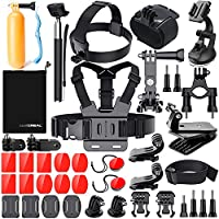 Accessori per Gopro Hero 6 5 4, Kit Accessori Action Cam per Go Pro Hero Session 5 3 2 1 Black AKASO EK7000 Apeman Dpower Xiaomi di LUSCREAL.