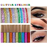 MEIQING Shimmer Glitter Eyeshadow Liquid Bling Liquid Eyeliner Waterproof long-lasting Metallic Eyeshadow Pen Make Up Set