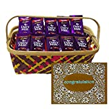 Bunch of Dairy milk with Fancy Basket for Congratulations