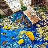 Mbwlkj Sea World 3D, Malerei Kinder Zimmer Restaurant Aquarium Halle Stores Tapete Wandbild-400Cmx280Cm