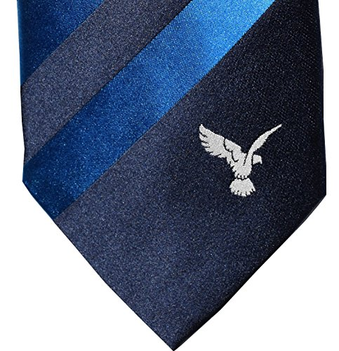 Royal Aeroutical Society Multiple Stripe Aviation Tie with embroidered Kestrel