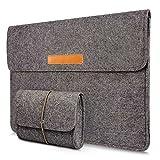 Young & Ming Laptop-Tasche, Filz, 15-15.4 Zoll Computer Sleeve Hülle Ultrabook Laptop Tasche Speziell für Apple MacBook pro 15 Zoll(Grau)