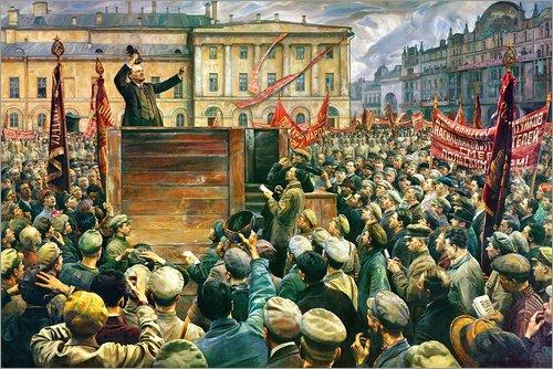 Lienzo 180 x 120 cm: Vladimir Ilyich Lenin Addressing