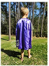 Abracadabrazoo Super Hero Superhero Satin Reversible Cape Purple Green Hulk