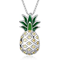 Sterling Silber Ananas Anhänger Halskette Schmuck Geschenk für Frauen Teens Mädchen