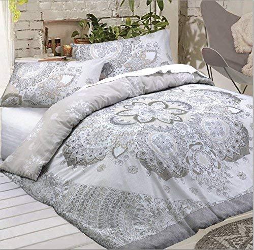 Sleepdown Juego de Funda de edredón y Funda de Almohada Reversible, polialgodón, diseño de Mandala Celestial