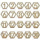 Ocamo Hochzeit Empfang Tischkarten 20PCS Cute Wooden out Nummer 1 20 Hexagon Tischkarten Empfang Sitz Karte f¨¹r Party Event organisieren Dekoration