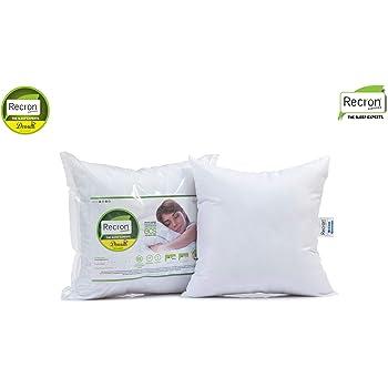 "Recron Certified Dream Microfibre Cushion, 2 Piece (16""x16"", White)"