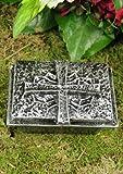 Weihwasserkessel mit Motiv Kreuz