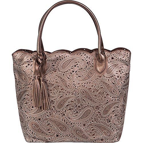 Buco Large Paisley Tote Femmes Faux Cuir Sac shopping Bronze