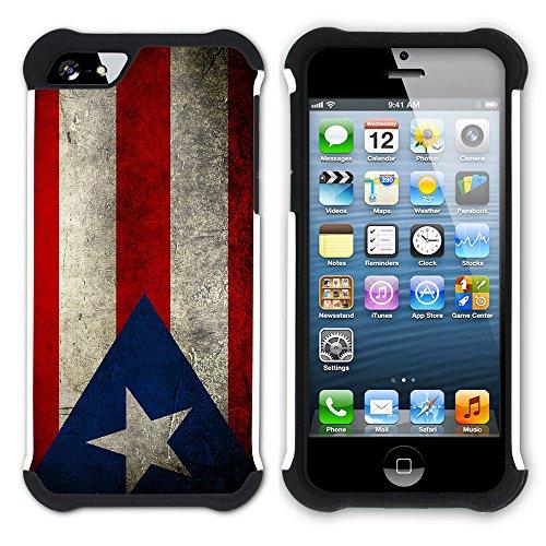 Graphic4You Vintage Uralt Flagge Von Venezuela Venezolanisch Design Hart + Weiche Kratzfeste Hülle Case Schale Tasche Schutzhülle für Apple iPhone SE / 5 / 5S Puerto Rico