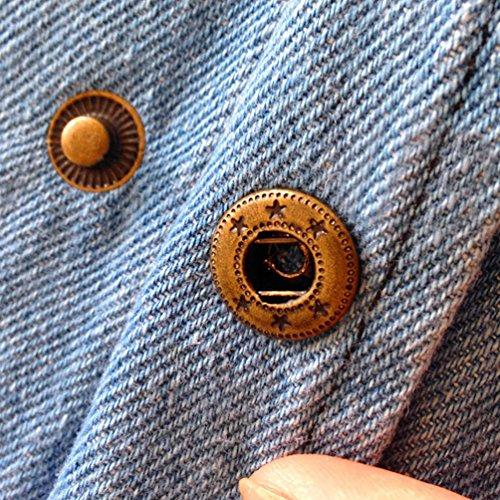 ZKOO Damen Große Größen Winter Denim Mäntel mit Kapuzen Parka Wintermantel Lose Coat Jacken Mantel Asia XL~4XL Blau