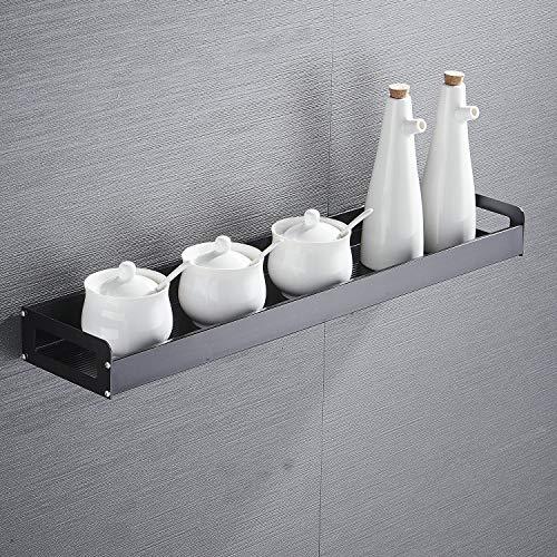 Mensola da cucina 40 cm nero finsh portaspezie per cucina, in alluminio, da appendere alla parete, mensola angolare